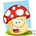 smiling mushroom cartoon gif, png, jpg, eps, svg, pdf