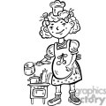 child playing chef in the kitchen gif, png, jpg, eps, svg, pdf