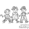 children celebrating gif, png, jpg, eps, svg, pdf