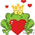 Cartoon-Frog-Prince-Holding-A-Red-Heart
