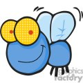 Cartoon-Fly-Character-blue