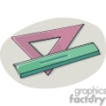 Cartoon triangle and ruler