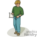 cartoon student carrying his homework gif, png, jpg, eps, svg, pdf