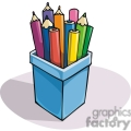 Cartoon container of colored pencils