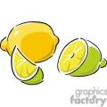 lime and lemons