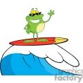 frog surfer gif, png, jpg, eps, svg, pdf