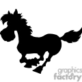silhouette of a cartoon horse