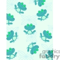 blue frog pattern
