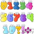 cartoon number set