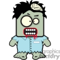 cartoon zombie with his brain showing