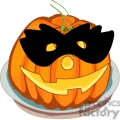 pumpkin wearing a mask