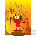 1929-Little-Red-Devil-Holding-Up-A-Pitchfork-And-Smoking-A-Cigar-In-Front-Of-Fire