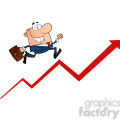 1807-Businessman-Running-Upwards-On-A-Statistics-Arrow