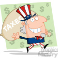 102524-Cartoon-Clipart-Uncle-Sam-Runs-And-Aarries-A-Bag-Of-Money