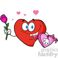 102557-Cartoon-Clipart-Sweet-Red-Heart-Man-Carrying-Chocolates-And-A-Rose