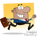 1805-african-american-businessman-running-to-work-with-briefcase  gif, png, jpg, eps, svg, pdf