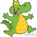 102535-Cartoon-Clipart-Happy-Aligator-Or-Crocodile-Jumping