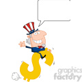102520-Cartoon-Clipart-Uncle-Sam-Riding-On-A-Dollar-Symbol-With-Speech-Bubble