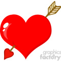 102583-Cartoon-Clipart-Perforated-Heart-With-Arrow