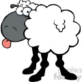 102671-Cartoon-Clipart-Funky-Black-Sheep-Sticking-Out-His-Tongue