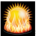 flaming sun gif, png, jpg, eps, svg, pdf