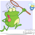 cartoon-frog-chasing-a-fly  gif, png, jpg, eps, svg, pdf