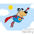 cartoon-superhero-dog  gif, png, jpg, eps, svg, pdf