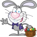 royalty-free-rf-copyright-safe-waving-gray-bunny-with-easter-eggs-and-basket  gif, png, jpg, eps, svg, pdf