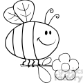 Royalty-Free-RF-Copyright-Safe-Happy-Bee-Fflying-With-Flower