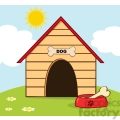 royalty-free-rf-copyright-safe-dog-house-with-bowl-on-a-hill  gif, png, jpg, eps, svg, pdf