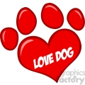 Royalty-Free-RF-Copyright-Safe-Love-Paw-Print-WithText