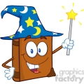4688-Royalty-Free-RF-Copyright-Safe-Wizard-Book-Cartoon-Character-Holding-A-Magic-Wand
