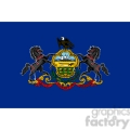 vector state flag of pennsylvania