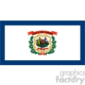 vector state flag of west virginia