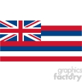 vector state flag of hawaii