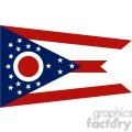 vector state Flag of Ohio