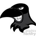 raven mascot showing teeth