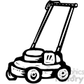 black and white push mower