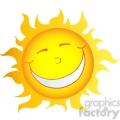 12903 RF Clipart Illustration Happy Smiling Sun Cartoon Character