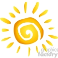 12886 RF Clipart Illustration Summer Hot Abstract Sun