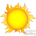 128912 RF Clipart Illustration Yellow Sun Shining