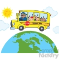 5050-clipart-illustration-of-happy-children-on-school-bus-around-earth  gif, png, jpg, eps, svg, pdf