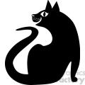 vector clip art illustration of black cat 038  gif, png, jpg, eps, svg, pdf