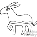 black and white democrat donkey image gif, png, jpg, eps, svg, pdf