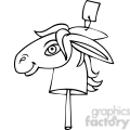 black and white clip art of a democratic donkey on a stick gif, png, jpg, eps, svg, pdf