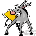 democrat donkey with a document in it's mouth gif, png, jpg, eps, svg, pdf