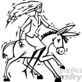 black and white democrat lady riding a donkey gif, png, jpg, eps, svg, pdf