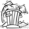 black and white clip art of a republican elephant in a trash can gif, png, jpg, eps, svg, pdf