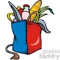 Democrat bag of groceries