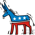 democrat donkey cartoon mascot gif, png, jpg, eps, svg, pdf